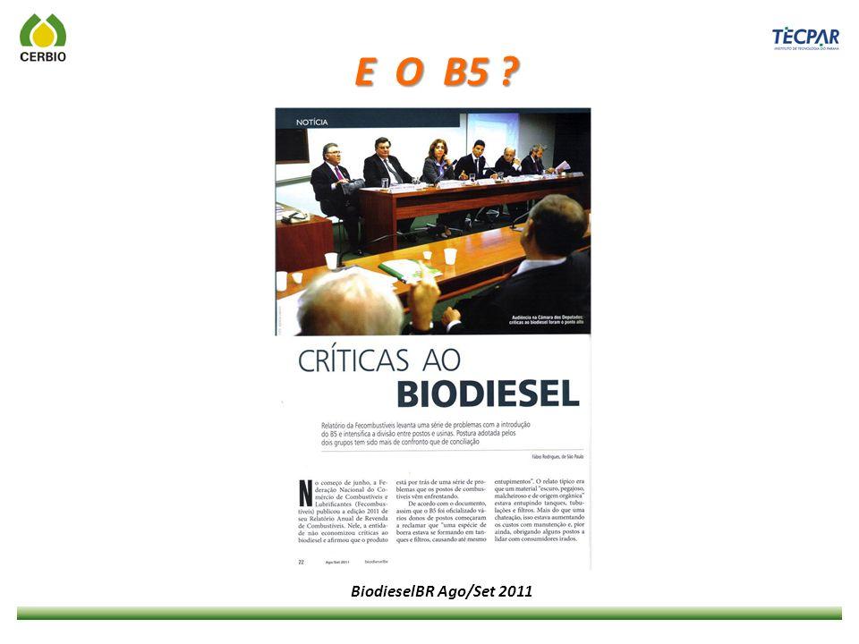 E O B5 BiodieselBR Ago/Set 2011