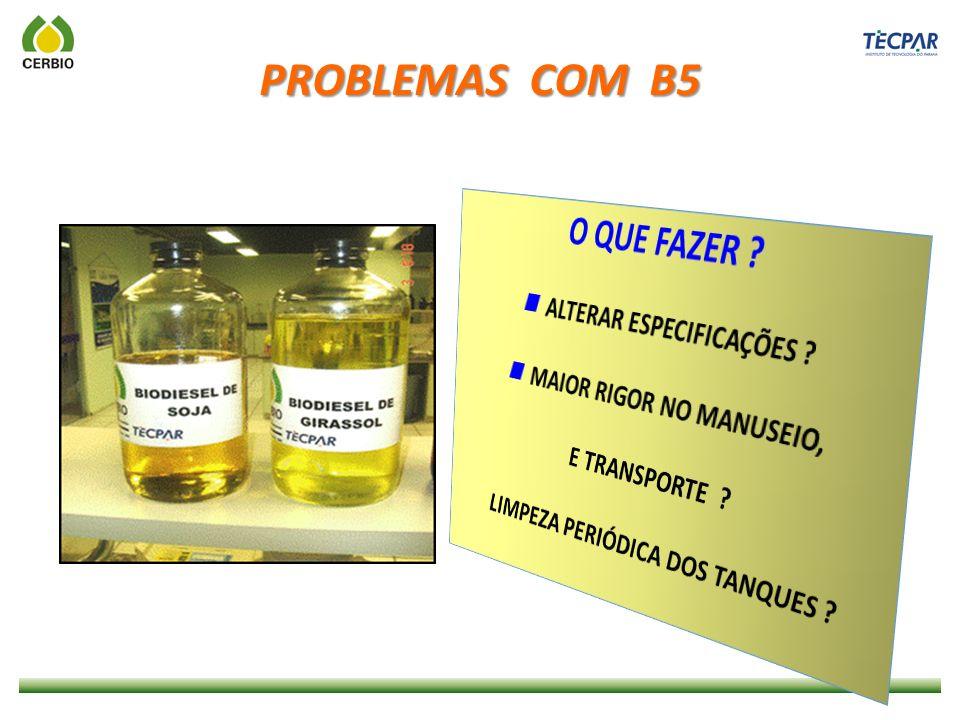 PROBLEMAS COM B5 O QUE FAZER  ALTERAR ESPECIFICAÇÕES