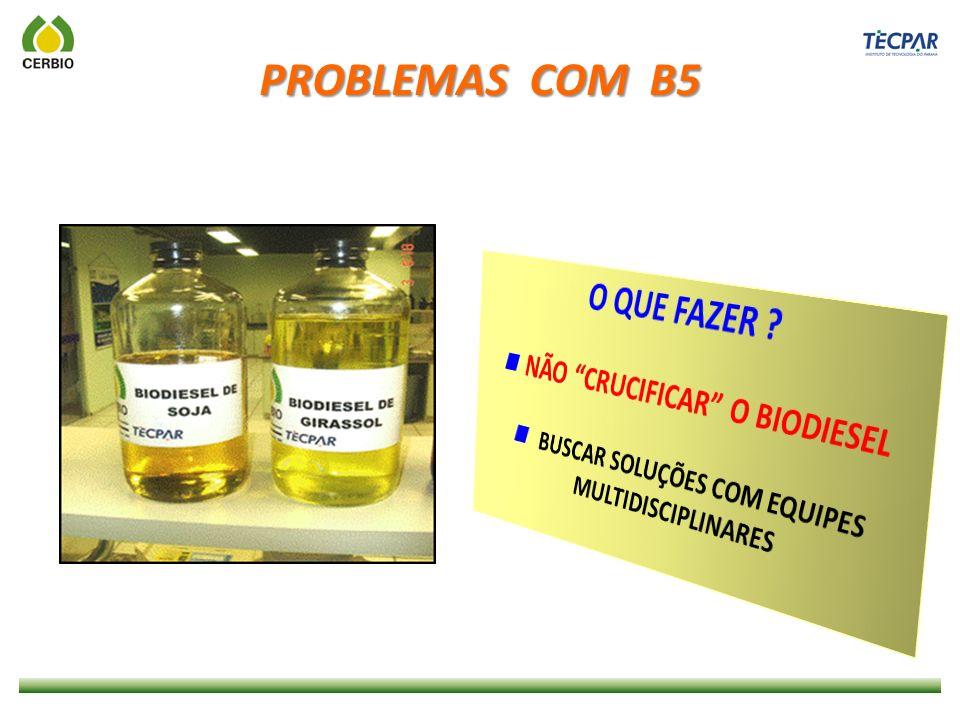PROBLEMAS COM B5 O QUE FAZER  NÃO CRUCIFICAR O BIODIESEL