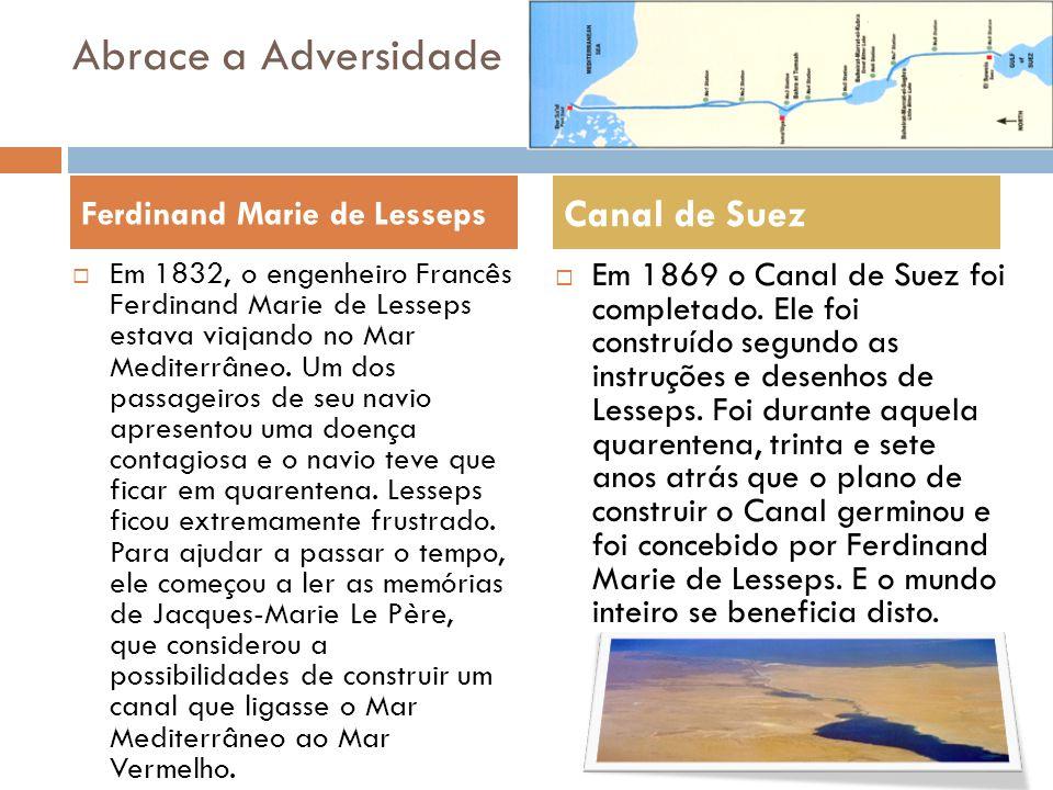 Abrace a Adversidade Canal de Suez Ferdinand Marie de Lesseps