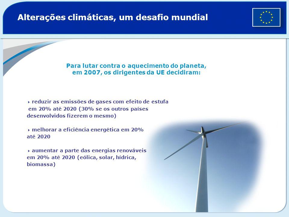 Alterações climáticas, um desafio mundial