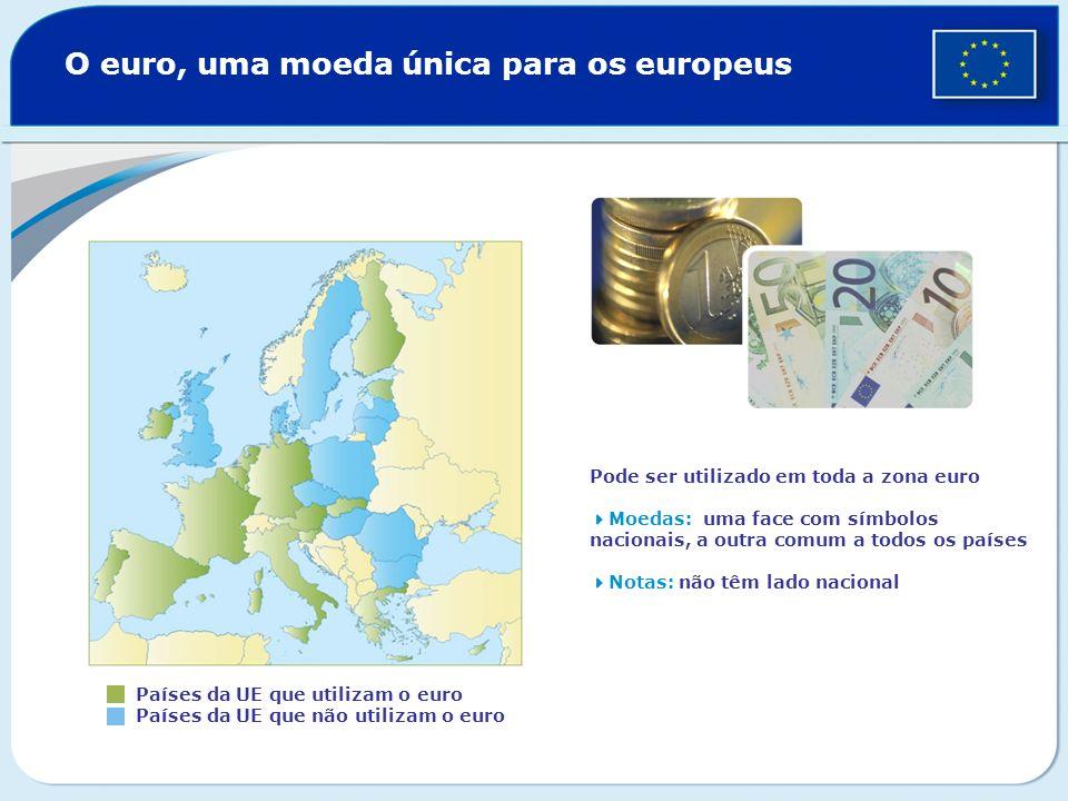 O euro, uma moeda única para os europeus