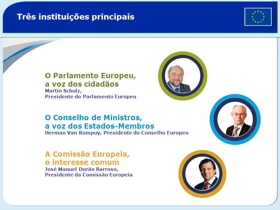 Três instituições principais