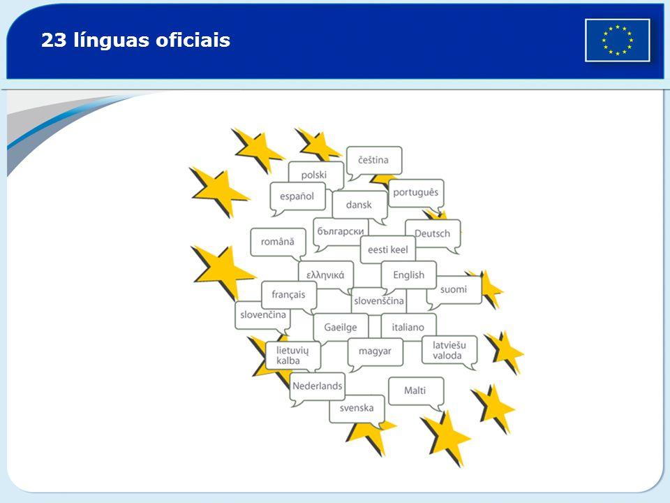 23 línguas oficiais
