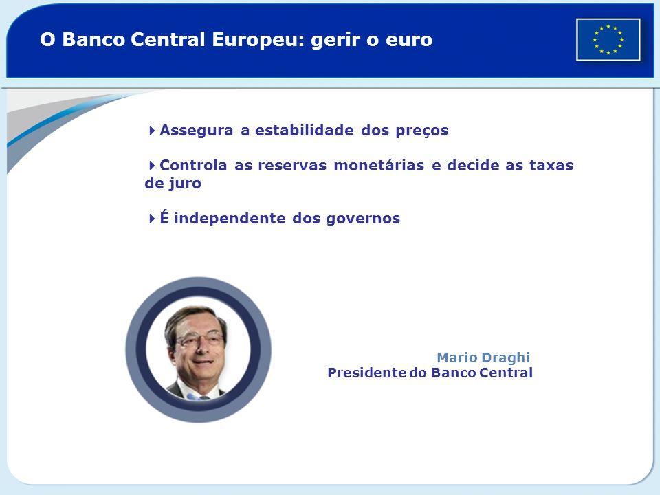 O Banco Central Europeu: gerir o euro
