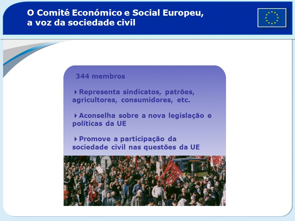 O Comité Económico e Social Europeu, a voz da sociedade civil