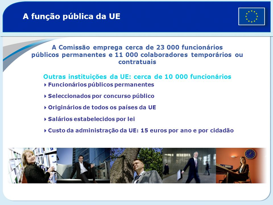 Outras instituições da UE: cerca de 10 000 funcionários