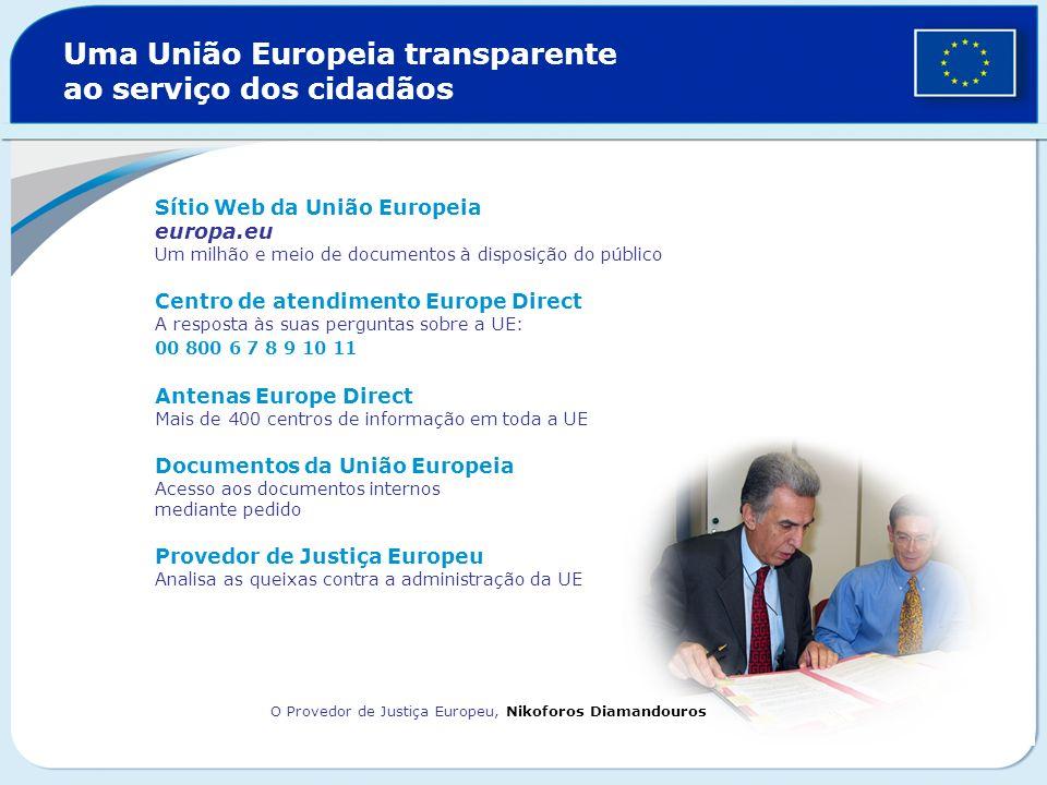 Uma União Europeia transparente ao serviço dos cidadãos