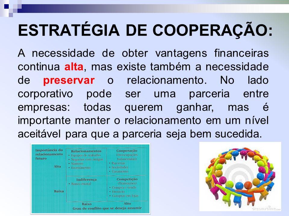 ESTRATÉGIA DE COOPERAÇÃO: