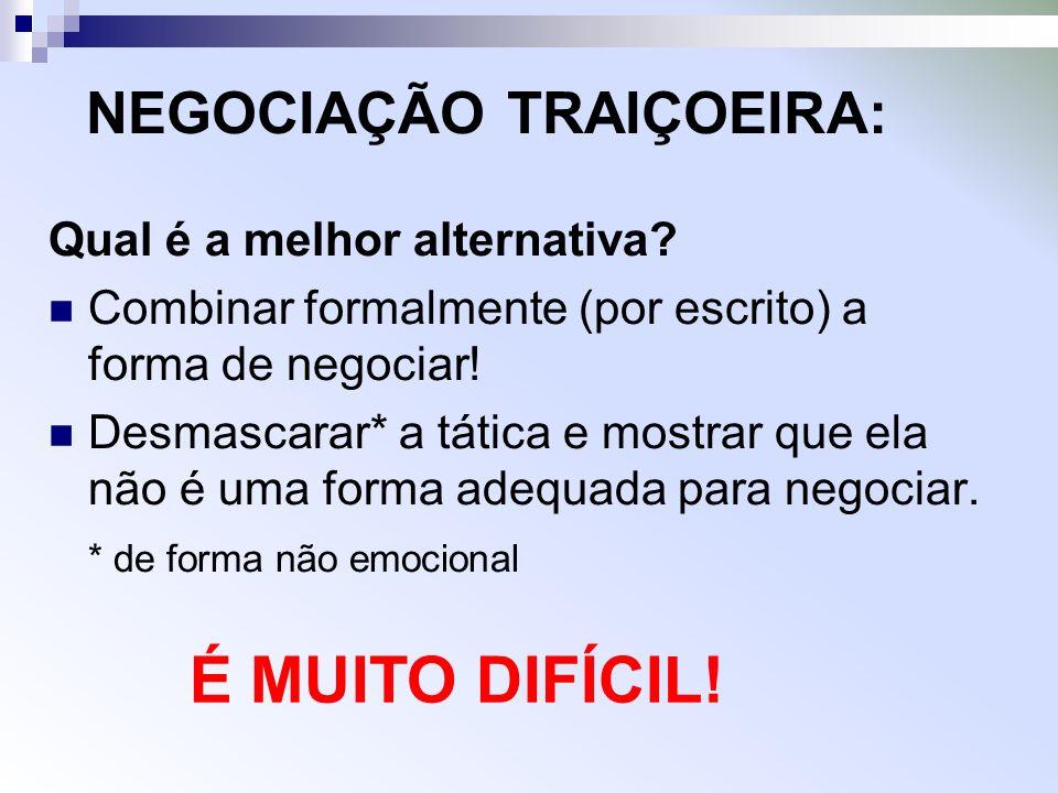 NEGOCIAÇÃO TRAIÇOEIRA: