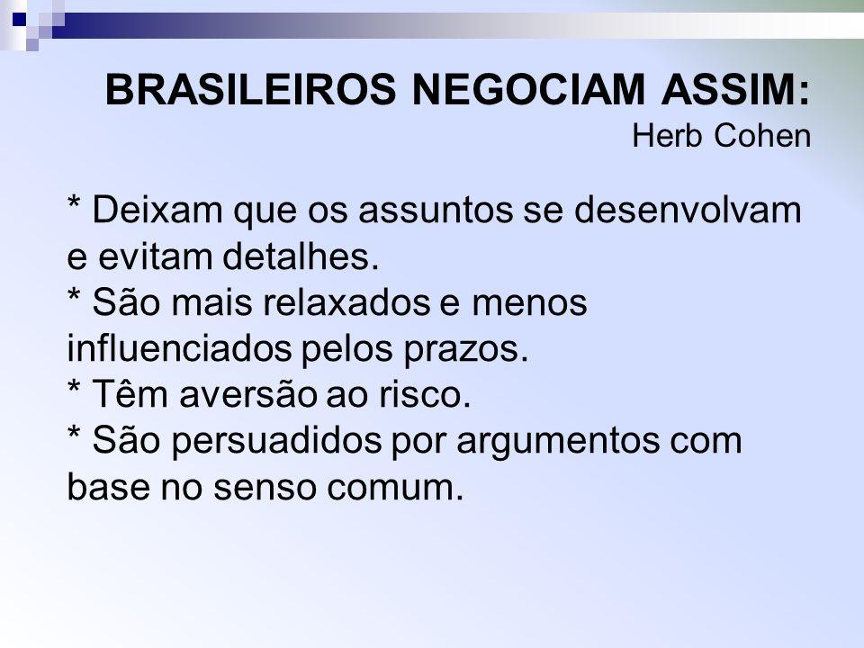 BRASILEIROS NEGOCIAM ASSIM: Herb Cohen