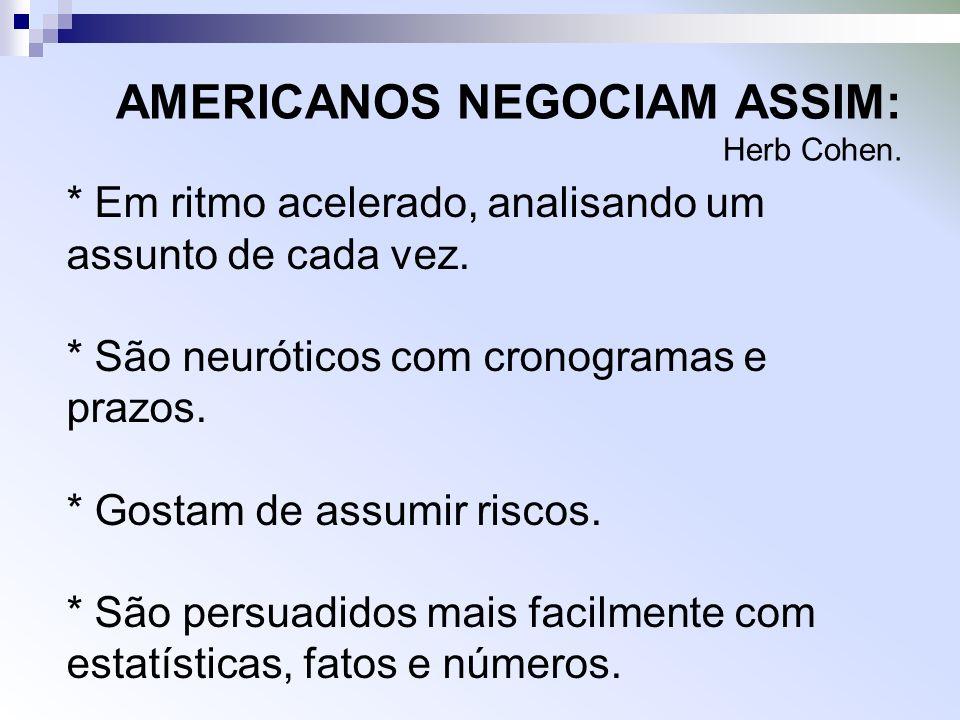 AMERICANOS NEGOCIAM ASSIM: Herb Cohen.