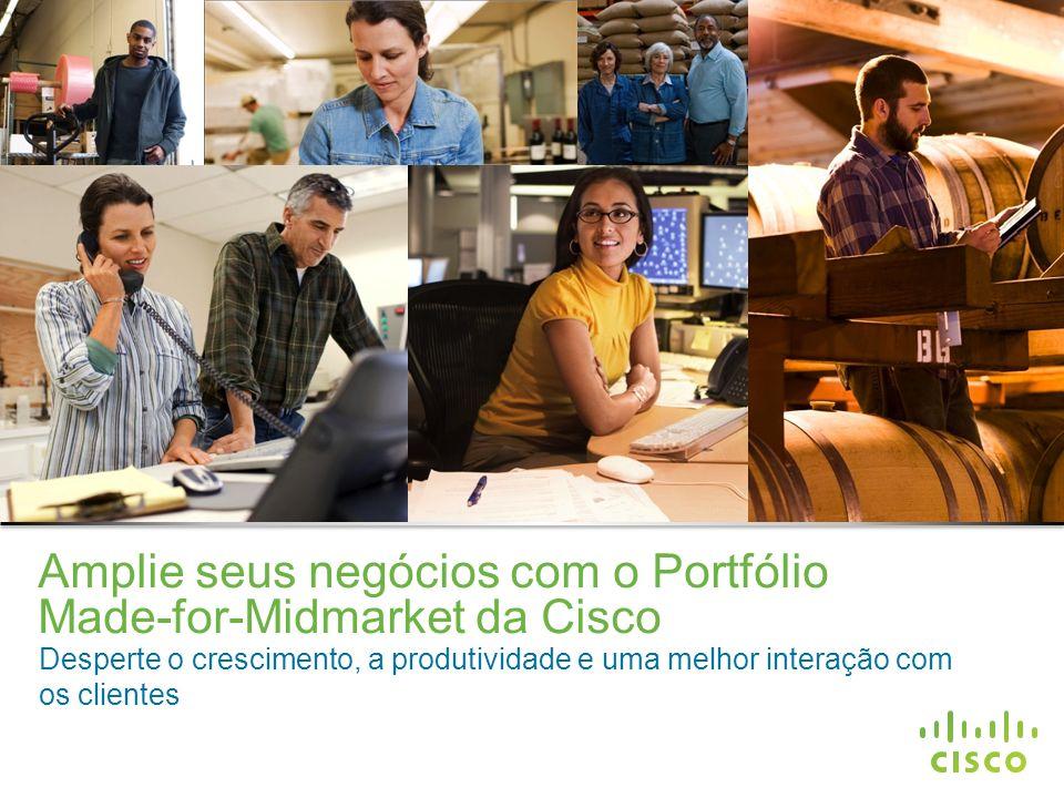 Amplie seus negócios com o Portfólio Made-for-Midmarket da Cisco