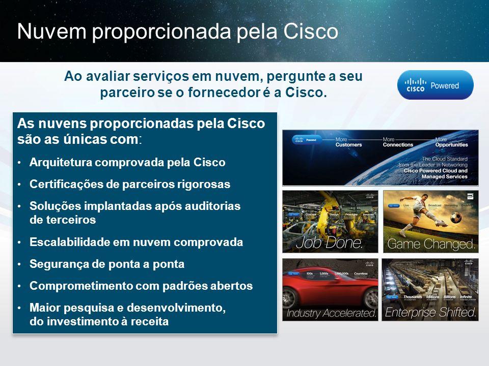 Nuvem proporcionada pela Cisco