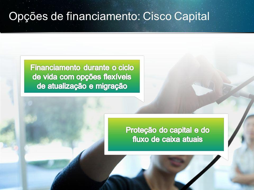 Opções de financiamento: Cisco Capital