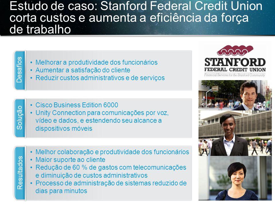 Estudo de caso: Stanford Federal Credit Union corta custos e aumenta a eficiência da força de trabalho