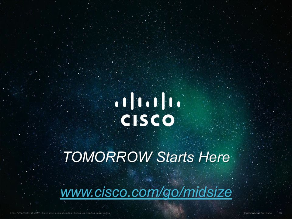 TOMORROW Starts Here www.cisco.com/go/midsize