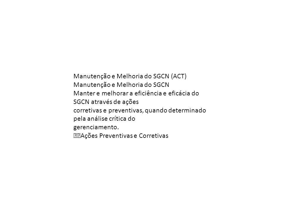 Manutenção e Melhoria do SGCN (ACT)