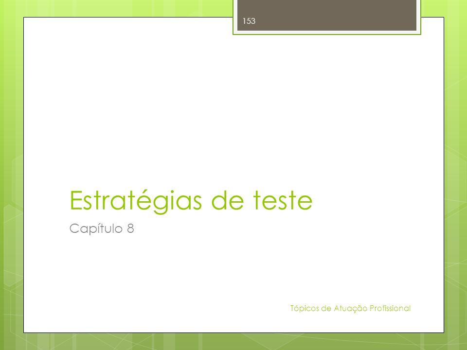Estratégias de teste Capítulo 8 Tópicos de Atuação Profissional