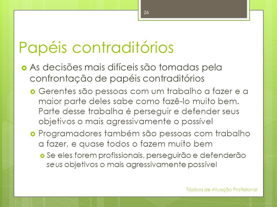 Papéis contraditórios