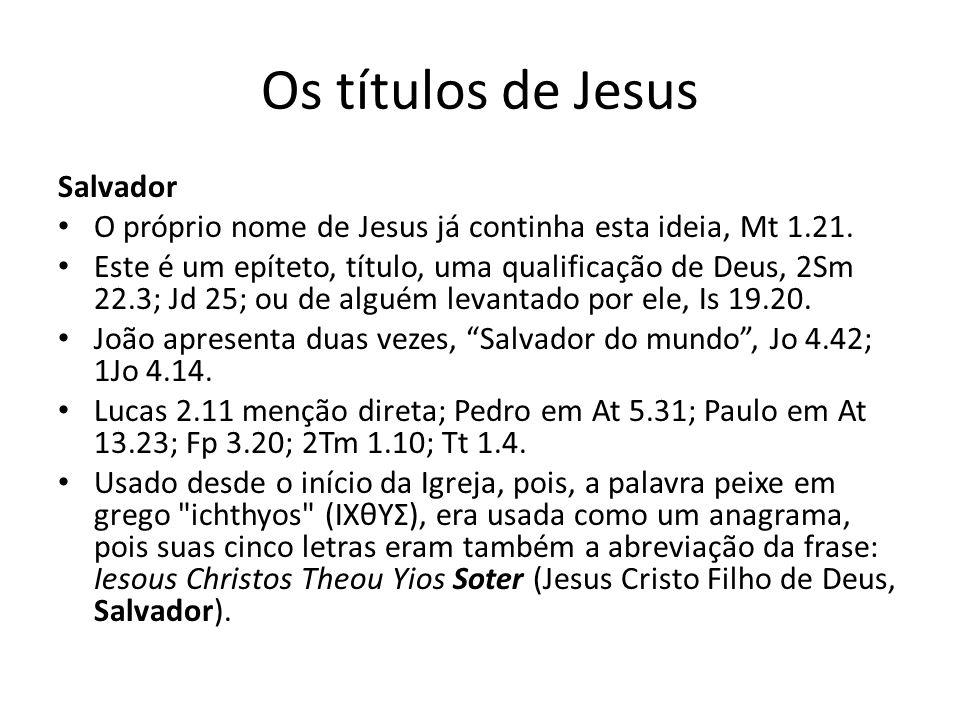 Os títulos de Jesus Salvador