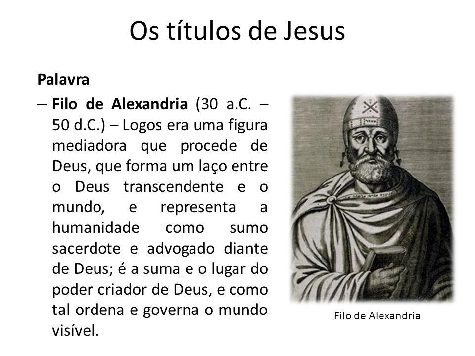 Os títulos de Jesus Palavra