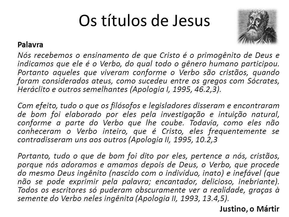 Os títulos de Jesus