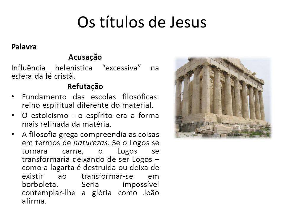 Os títulos de Jesus Palavra Acusação