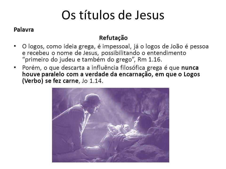 Os títulos de Jesus Palavra Refutação