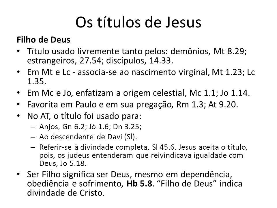 Os títulos de Jesus Filho de Deus
