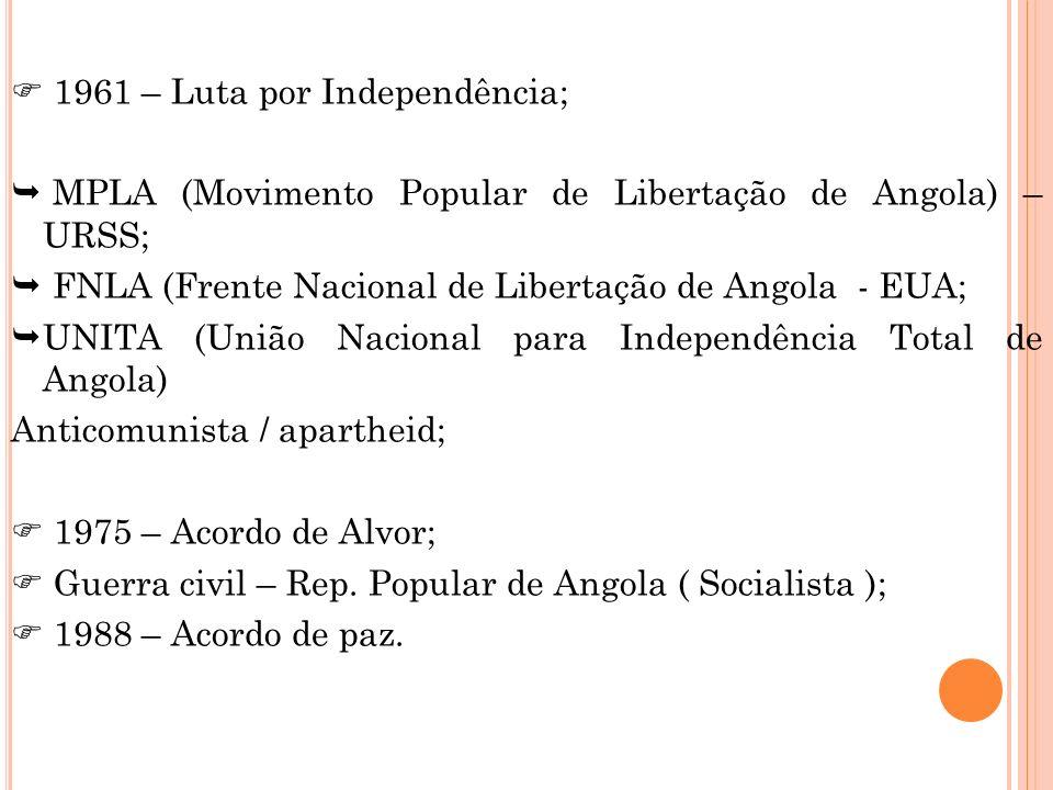 1961 – Luta por Independência;