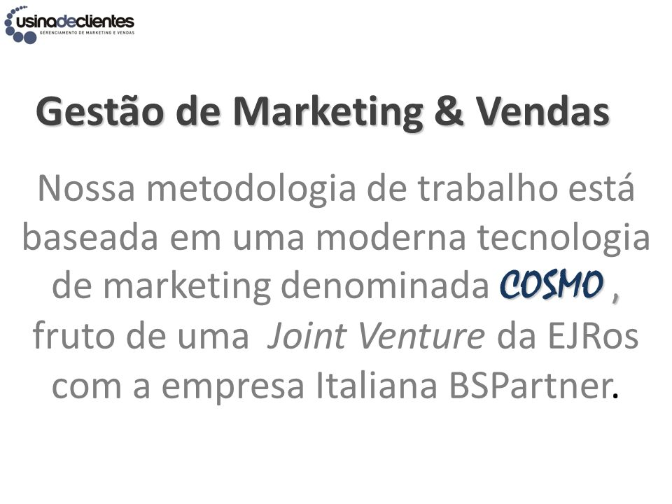 Gestão de Marketing & Vendas
