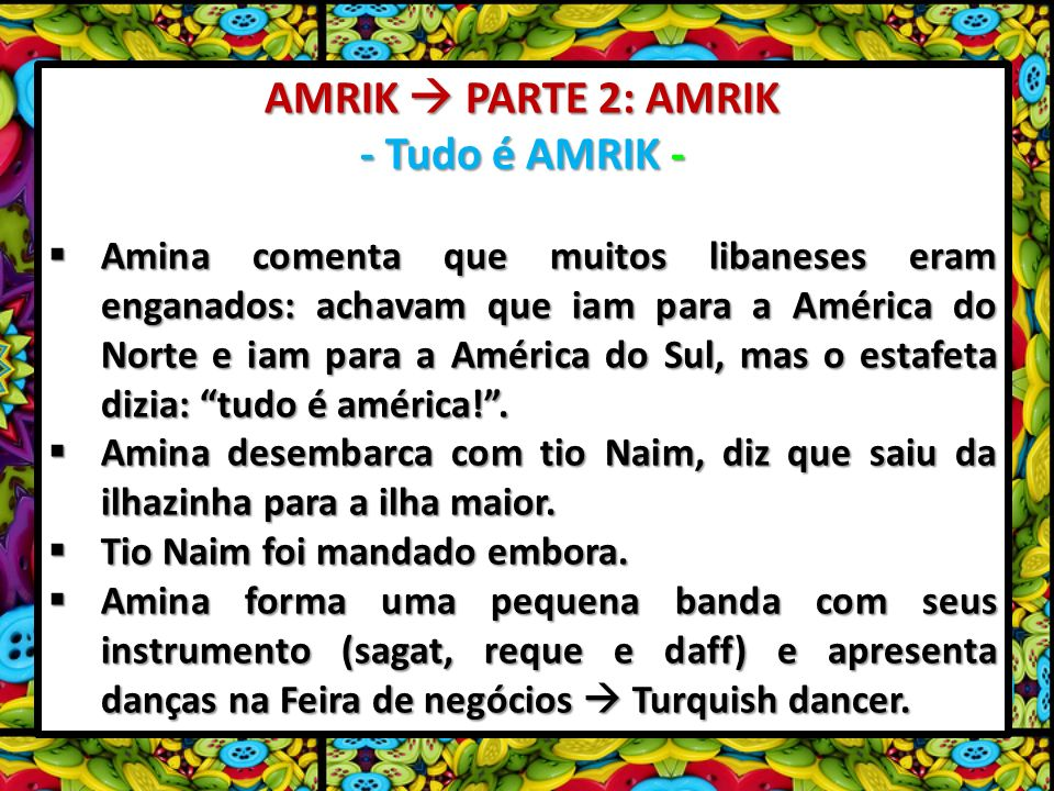 AMRIK  PARTE 2: AMRIK - Tudo é AMRIK -