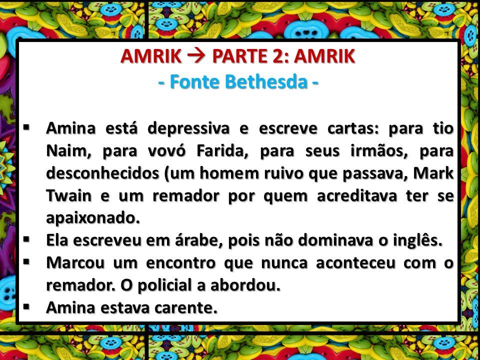 AMRIK  PARTE 2: AMRIK - Fonte Bethesda -