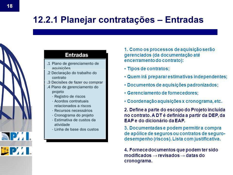 12.2.1 Planejar contratações – Entradas
