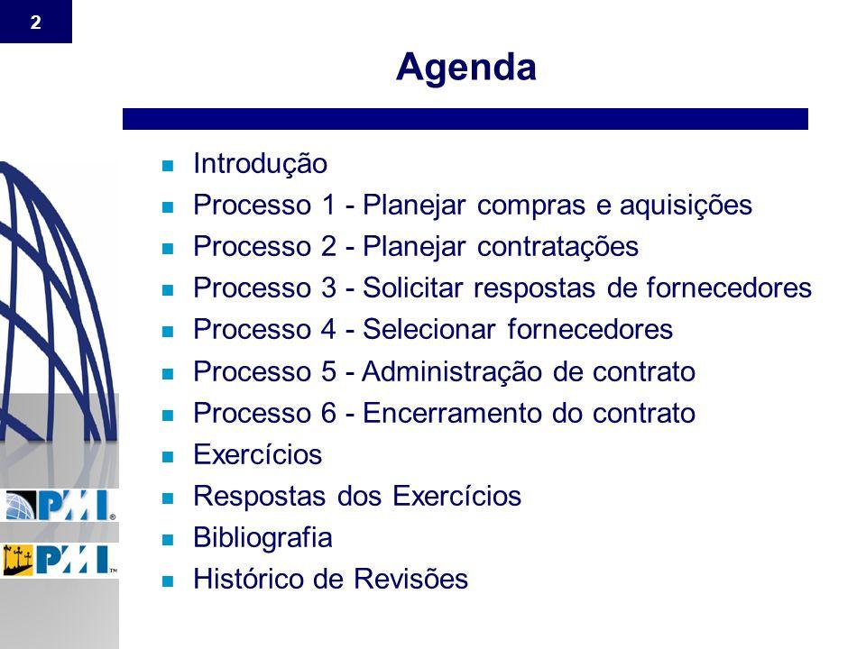 Agenda Introdução Processo 1 - Planejar compras e aquisições
