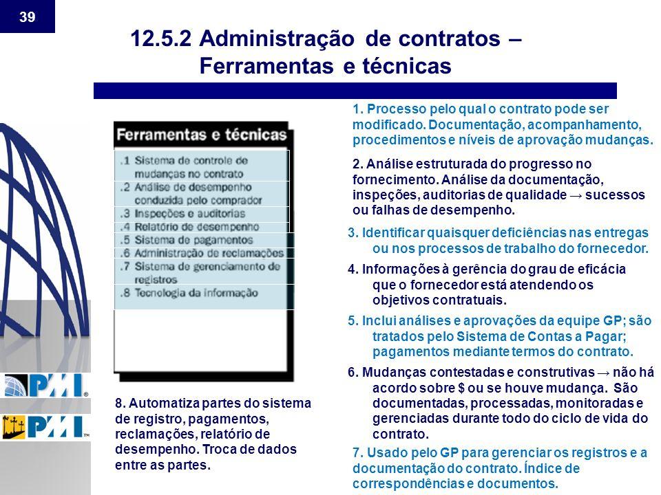 12.5.2 Administração de contratos –