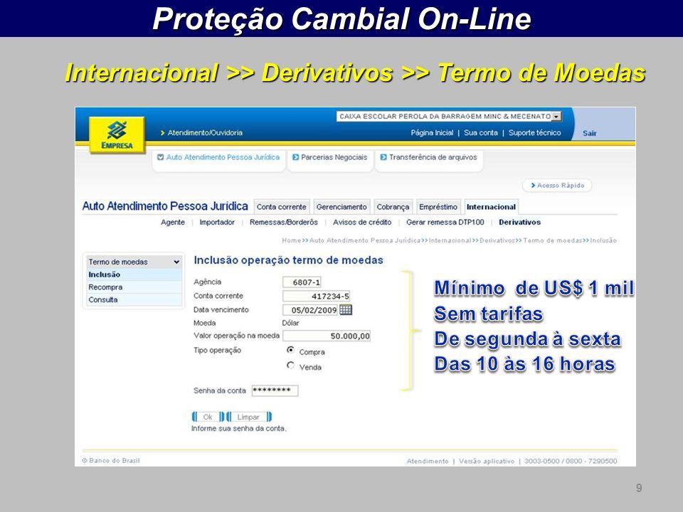 Proteção Cambial On-Line