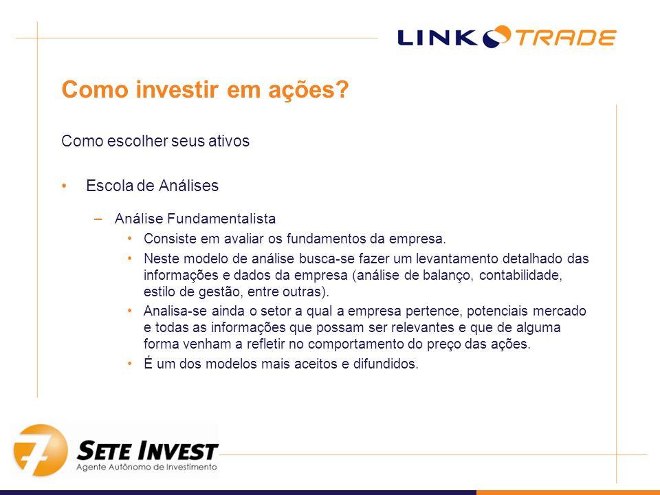 Como investir em ações Como escolher seus ativos Escola de Análises