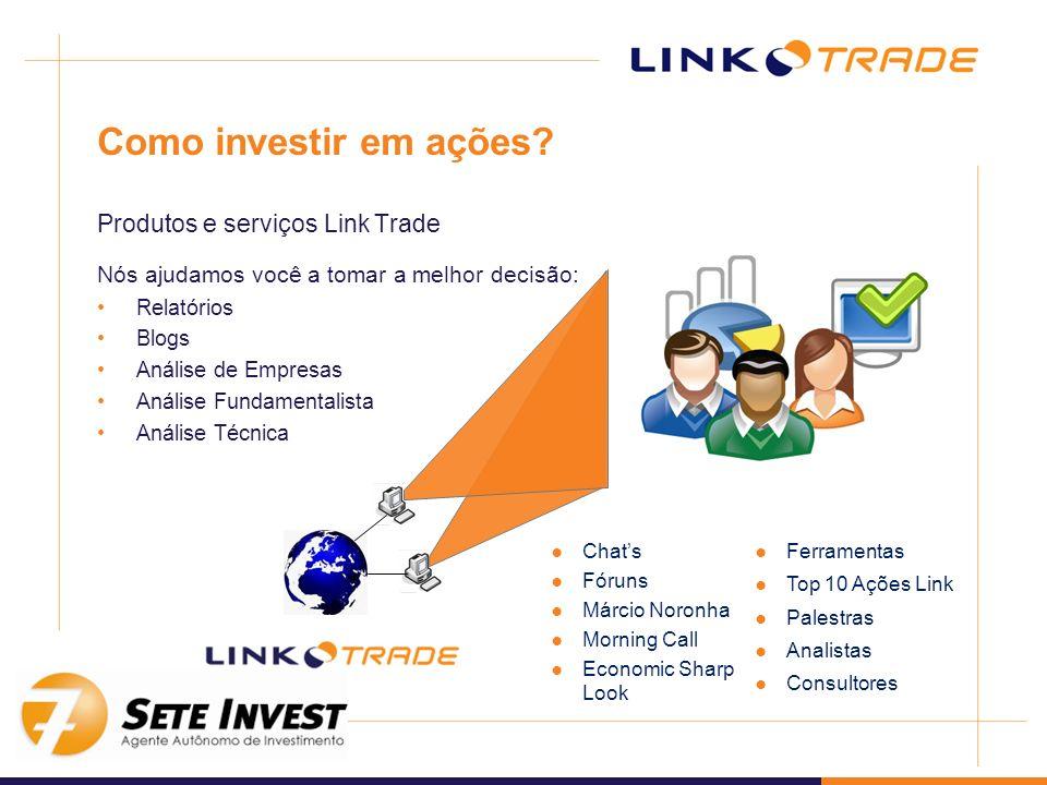 Como investir em ações Produtos e serviços Link Trade