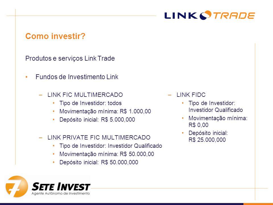 Como investir Produtos e serviços Link Trade