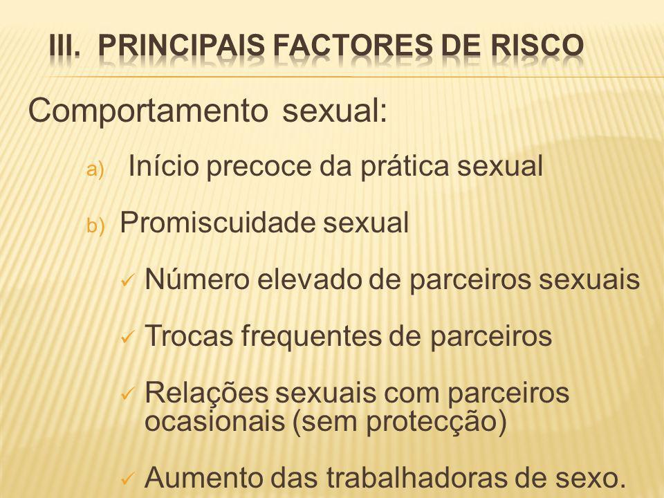 III. PRINCIPAIS FACTORES DE RISCO