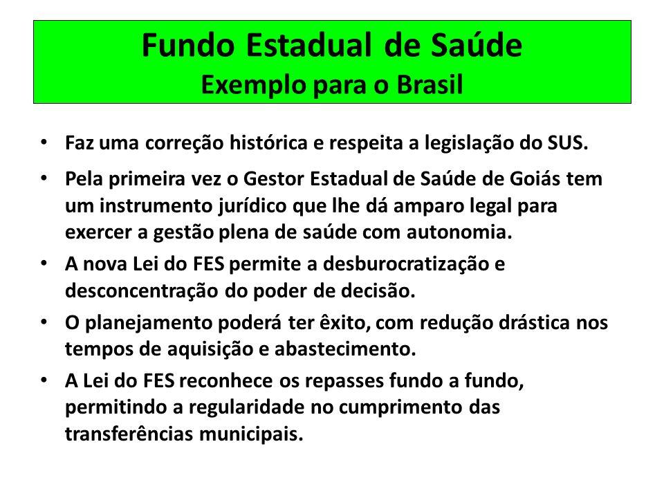 Fundo Estadual de Saúde Exemplo para o Brasil