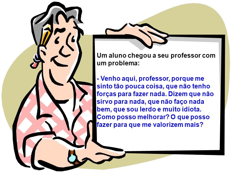 Um aluno chegou a seu professor com um problema: