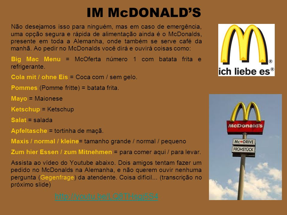 IM McDONALD'S http://youtu.be/LQ8THsgj5S4