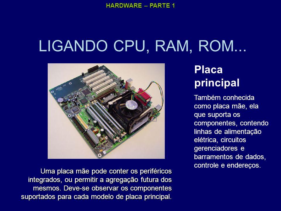 LIGANDO CPU, RAM, ROM... Placa principal