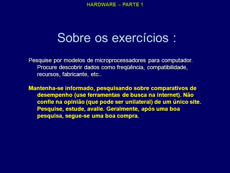 Sobre os exercícios :