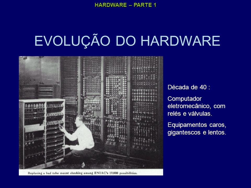 EVOLUÇÃO DO HARDWARE Década de 40 :