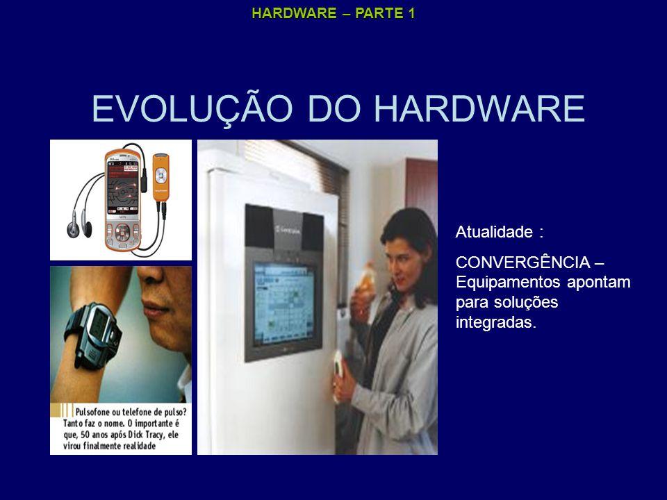 EVOLUÇÃO DO HARDWARE Atualidade :
