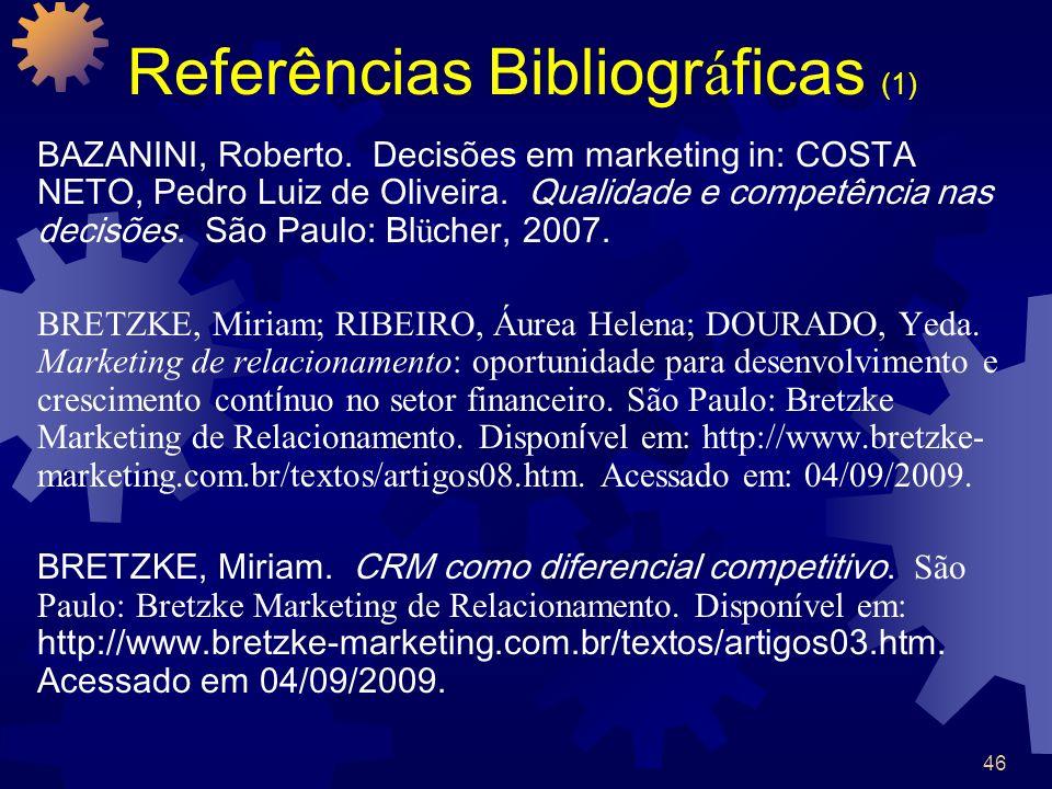 Referências Bibliográficas (1)